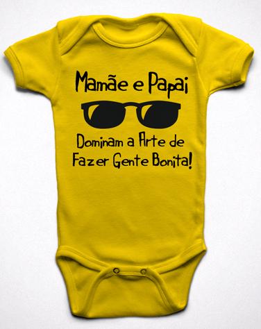 Body Mamãe e Papai Dominam a Arte de Fazer Gente Bonita