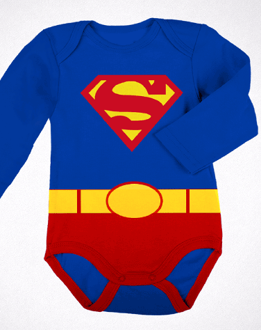 Body Manga Comprida Superman
