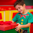 Camiseta de Criança Ajudante de Papai Noel