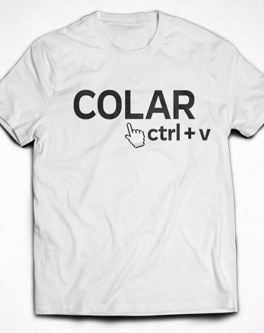 Camiseta Infantil Ctrl+V (Colar)