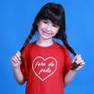 Camiseta Infantil do Kit Coração Fora do Peito