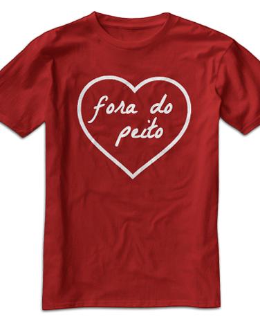 Camiseta Infantil Coração Fora do Peito