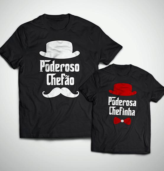 212a647470ce62 Tal Pai, Tal Filha ... Poderosa Chefinha (Camiseta Adulto + Infantil)