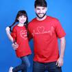 Tal Pai, Tal Filho ... Coração Fora do Peito (Camiseta Adulto + Infantil)