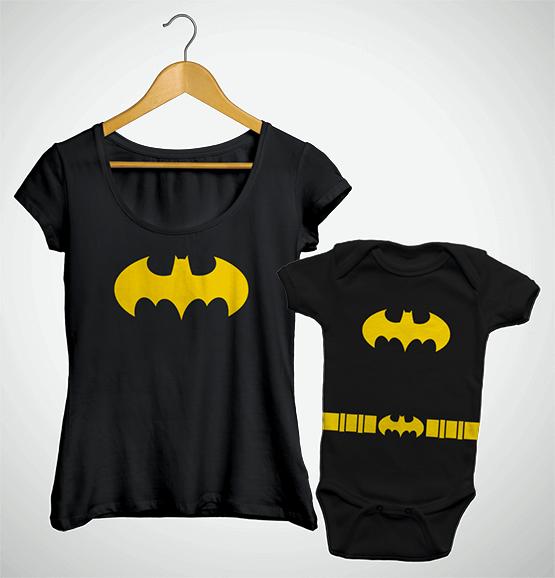Tal Mãe, Tal Filha ... Bata + Body Batgirl