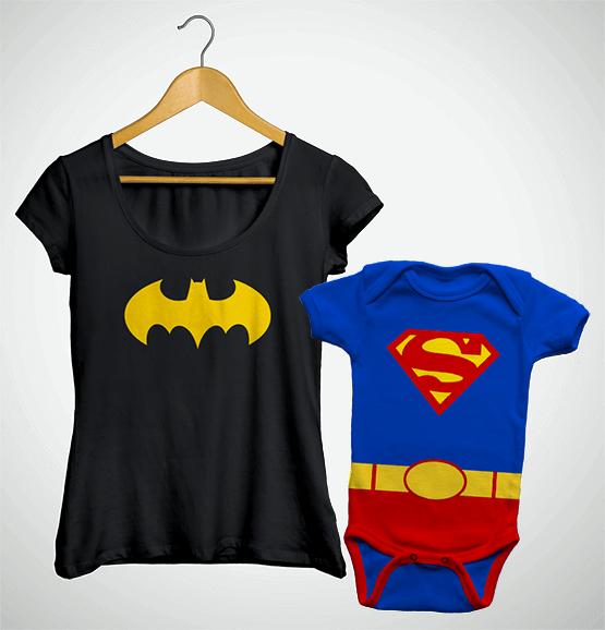 Tal Mãe, Tal Filho ... Bata Batgirl + Body Superman