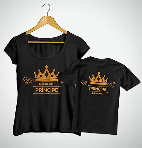 Tal Mãe, Tal Filho ... Príncipe da Mamãe (Bata + Camiseta)