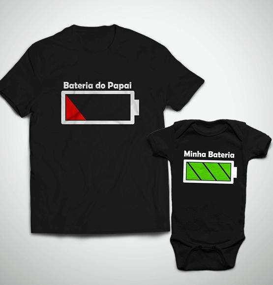 Tal Pai, Tal Filho ... Bateria (Camiseta + Body)